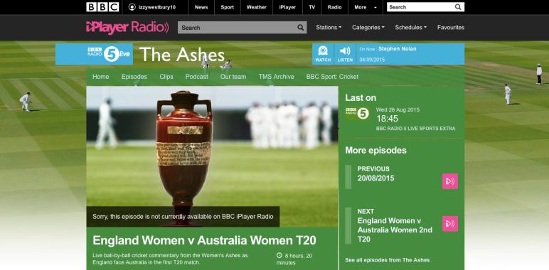 BBC Cricket: Demo Tape – Isabelle Westbury 2015 | Isabelle Westbury