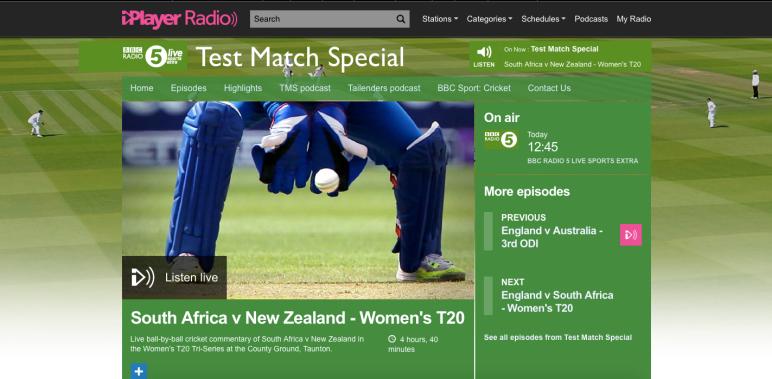 BBC Test Match Special – Women   Isabelle Westbury